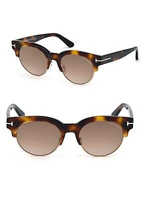 e71a288f9bf Tom Ford - 51MM Tortoiseshell Clubmaster Sunglasses - saksoff5th.com