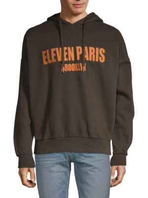 Elevenparis Tops Turkish Cotton Logo Hoodie