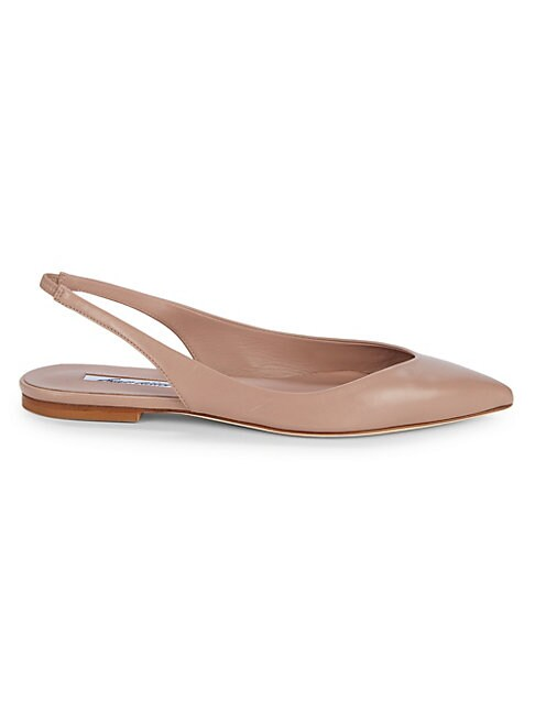 BRIAN ATWOOD | Point-Toe Leather Slingback Flats | Goxip
