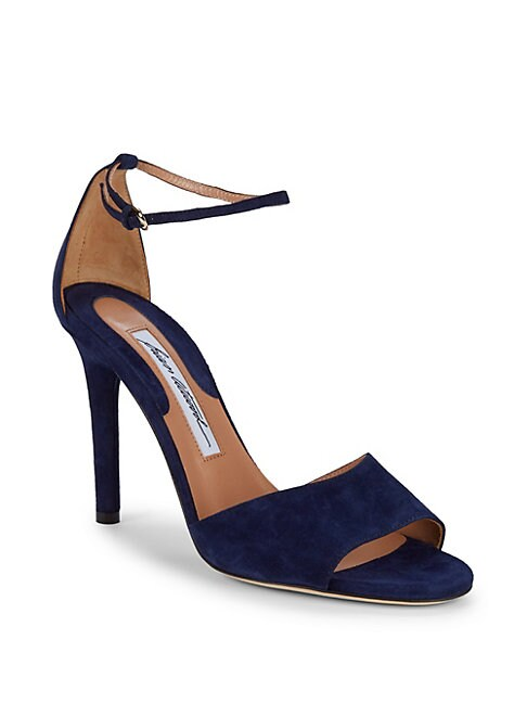BRIAN ATWOOD | Ankle-Strap Suede Sandals | Goxip