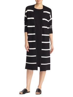 Lafayette 148  Striped Knit Cardigan