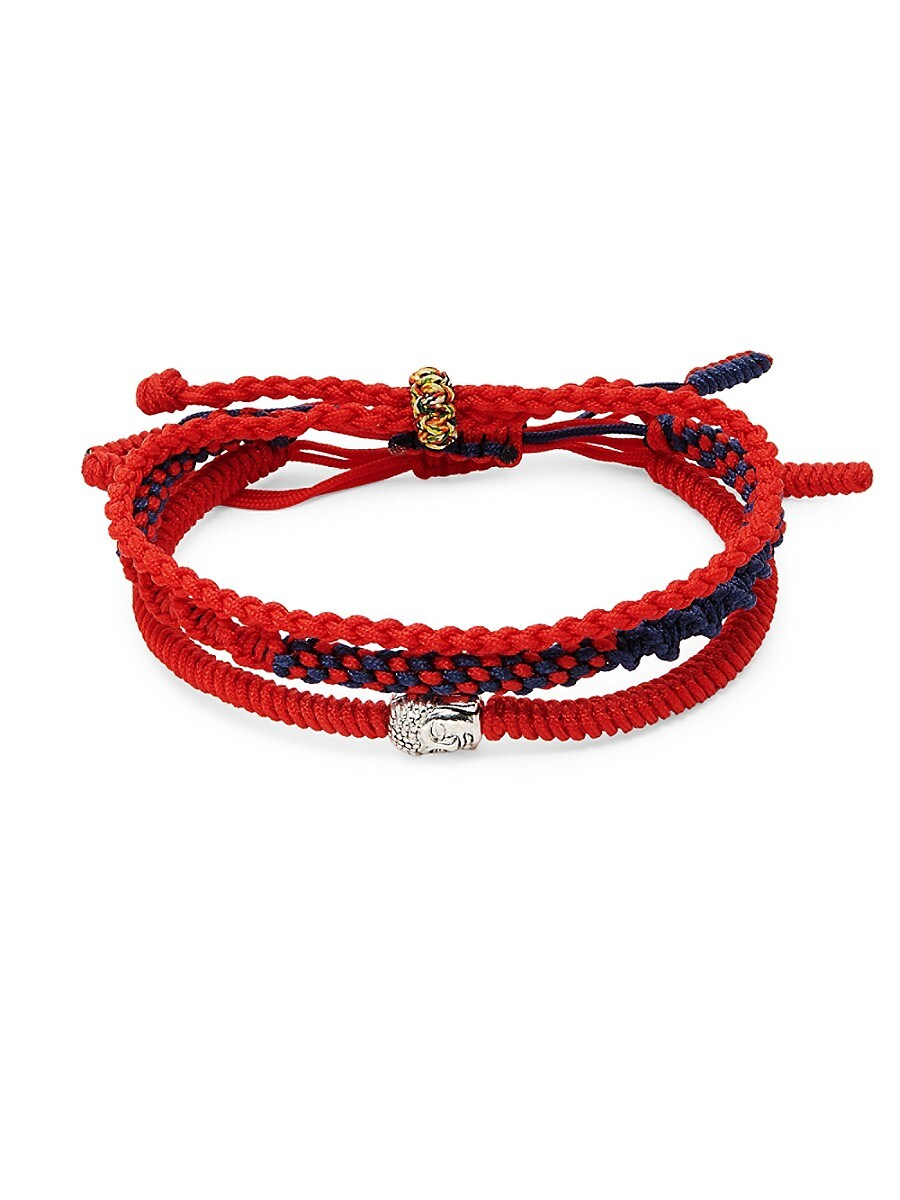 Men's Set of 3 Tibetan Buddha Bracelets