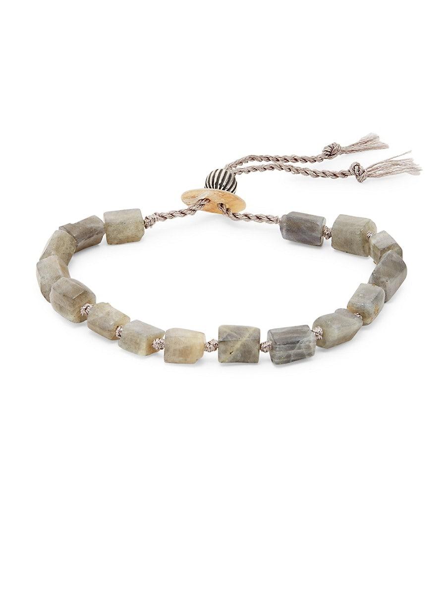 Men's Labradorite Knotted Bracelet