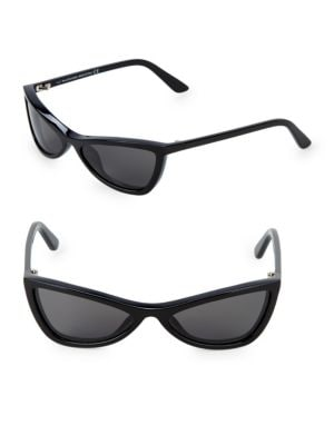 Narrow 59Mm Triangular Sunglasses in 01A Shinybl