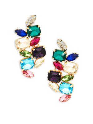 JARDIN Multicolored Crystal Drop Earrings