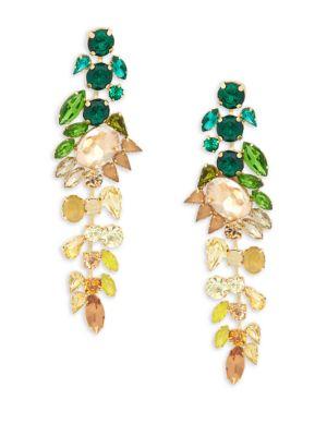 JARDIN Crystal Ombre Drop Earrings in Multi