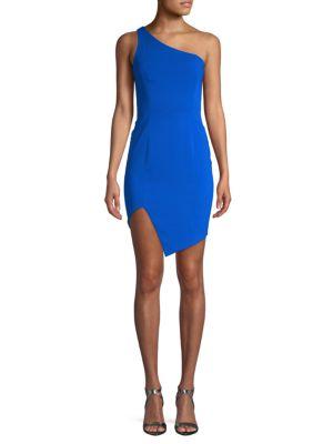 Jay Godfrey One-Shoulder Sheath Dress