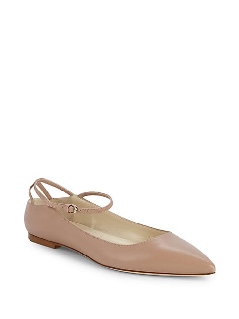 BRIAN ATWOOD | Astrid Ankle-Strap Ballerina Flats | Goxip