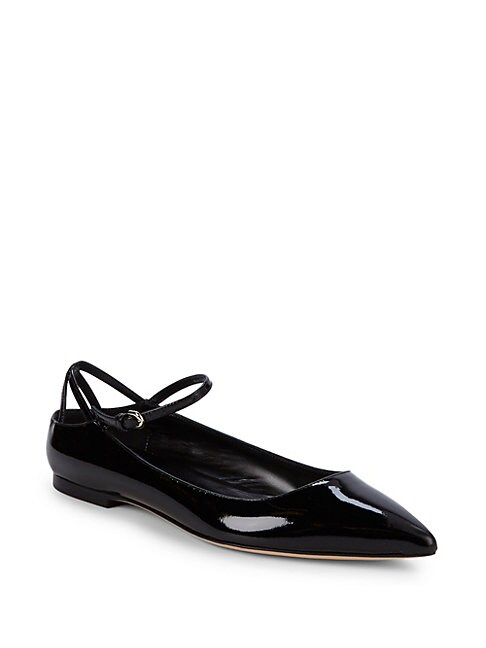 BRIAN ATWOOD | Astrid Point Toe Patent Leather Flats | Goxip