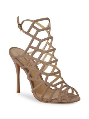 SCHUTZ Juliana Suede Webbed High Heel Sandals