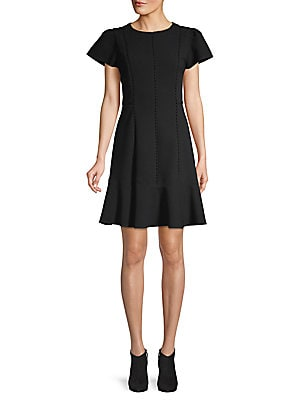 Ruffle Trimmed Off The Shoulder Dress by Saks Fifth Avenue