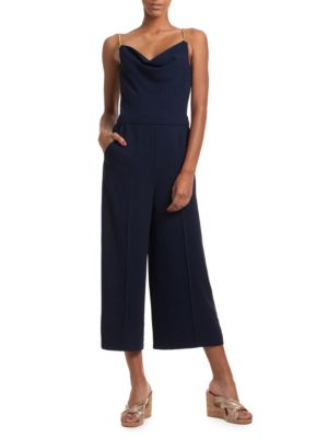 Trina Turk Suits Straight-Fit Cropped Wide-Leg Jumpsuit