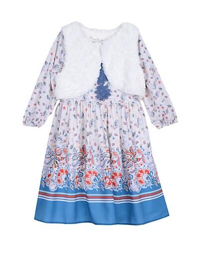 049167f7f4 Pippa   Julie Little Girl s 2-Piece Boho Dress   Faux ...
