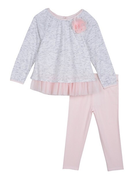 Little Girls 2Piece Swing Top  Tulle Leggings Set