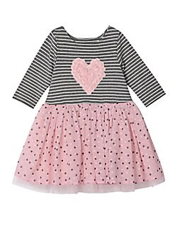 d4e06b6b87a1 Product image. QUICK VIEW. Pippa & Julie. Little Girl's Pastourelle Striped  Dress