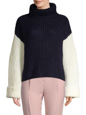Avantlook Oversized Three-Tone Slouchy Sweater
