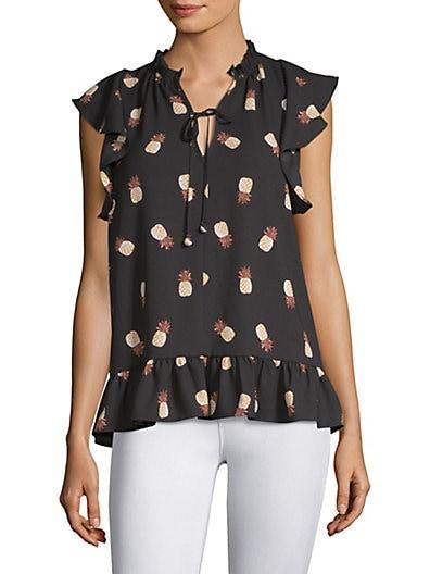 e5d12a67488d Kate Spade New York Pineapple-Print Top ...