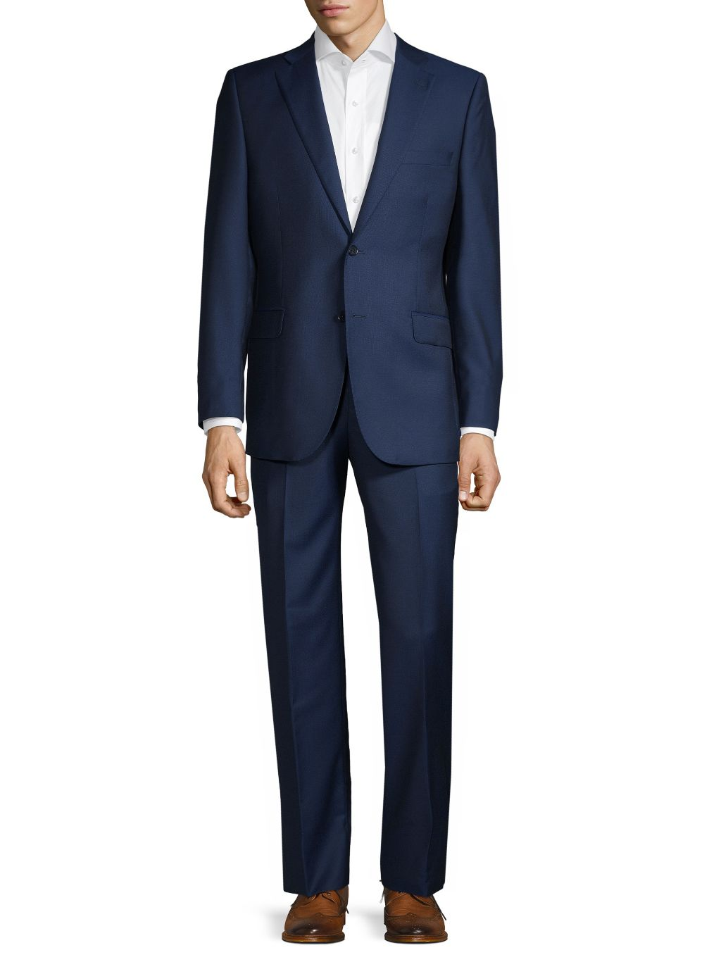 Saks Fifth Avenue Made in Italy Classic-Fit Wool & Silk Blend Suit