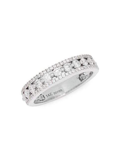 Nephora 14K White Gold & Diamond Ring