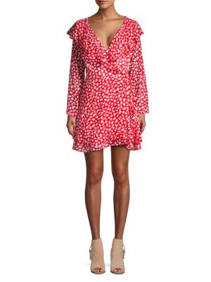 Frenchie Printed Dress in Red