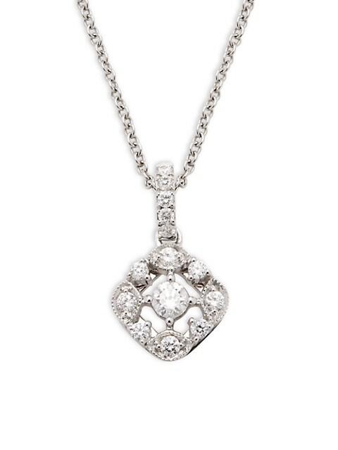 Nephora 14K White Gold & Diamond Pendant Necklace