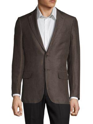 Isaia Coats Regular-Fit Wool & Linen Blend Sportcoat