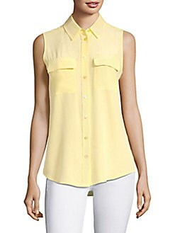 8ba00e8a06ff9 Product image. QUICK VIEW. Equipment. Slim Signature Silk Sleeveless Shirt
