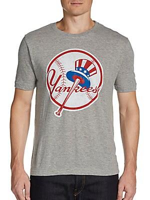 Yankees T Shirt   Heather Grey