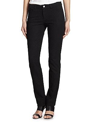 Lafayette 148  Reptile-Print Skinny Jeans