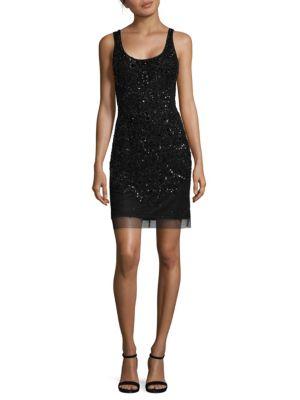 Adrianna Papell  Sleeveless Beaded Tank Dress