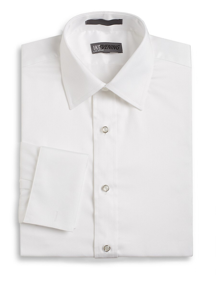 Men's Regular-Fit French Cuff Cotton Dress Shirt