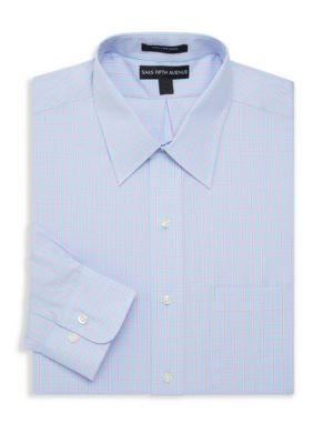 Saks Fifth Avenue Checkered Dress Shirt