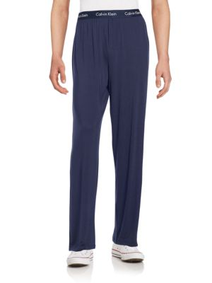 CALVIN KLEIN Men'S Sleepwear, Body Modal Pajama Pant U1143 in Blue