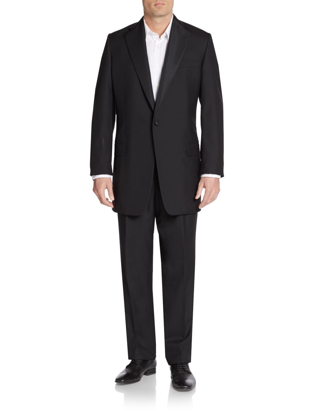 Isaia Classic-Fit Worsted Wool One-Button Tuxedo Suit