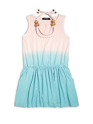 Little Girl's Ombre Dress & Twisted Necklace