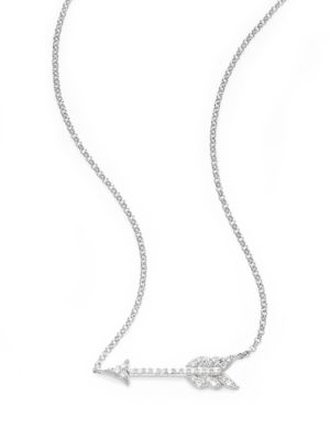 Saks Fifth Avenue  DIAMOND & 14K WHITE GOLD ARROW PENDANT NECKLACE