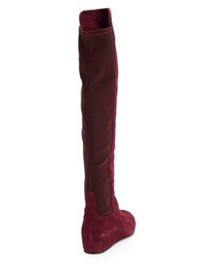STUART WEITZMAN Suedes Lander Over-The-Knee Wedge Boots