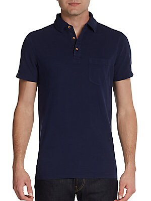 Cotton Pocket Polo Shirt