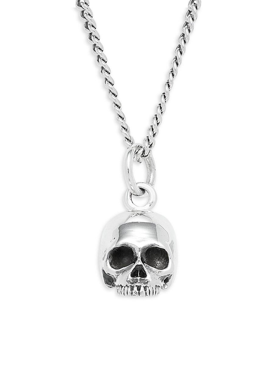 Men's Sterling Silver Hamlet Skull Pendant Necklace