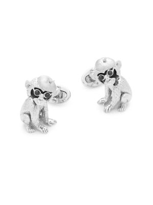 Jan Leslie MOVING MONKEY CUFF LINKS