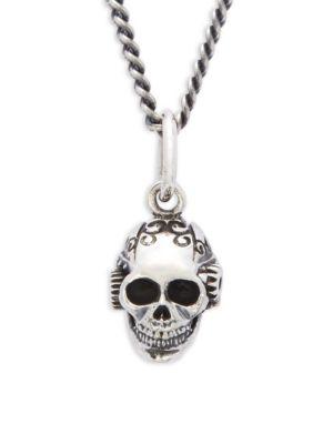 King Baby Studio  Victorian Gear Skull Pendant Necklace