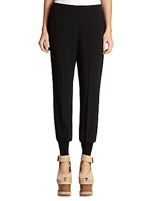 VELVET CUFFED TROUSERS