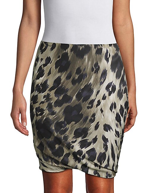 Pauw PRINTED BUBBLE SILK SKIRT