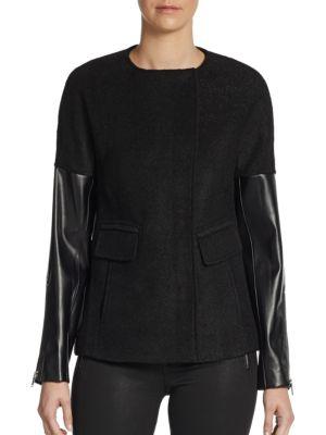Kaufmanfranco Faux-Leather Sleeve Jacket
